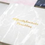 """อัลบั้ม 100 รูป (4x6"""") ลายหินอ่อนสีเทา - สั่งทำใส่ชื่อ"""