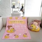 ผ้าห่มเด็ก สั่งทำใส่ชื่อ ลาย Ducky and Baby Girl - Pink