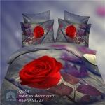 Pre-order ชุดผ้าปูที่นอน ปลอกหมอน ปลอกผ้าห่ม ผ้าคลุมเตียง ผ้าฝ้ายพิมพ์ 3D รูปกุหลาบแดง สีแดง