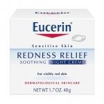 ครีมบำรุงผิวหน้า Eucerin Redness Relief Soothing Night Creme ขนาด 48g.