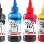หมึกเติม Printer Refill Canon 100ml . Color Fly ชุด 4 สี
