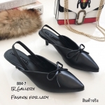 รองเท้าหัวแหลม Style Balenciaga (สีดำ)