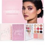 **ส่งฟรี EMS**Kylie The Birthday Collection I Want it All Face Palette พาเลทเดียวได้ครบทั้ง อายเชโดว์ บรัช และไฮไลท์ ให้คุณครีเอทลุคสีชมพูได้น่ารักสุดๆ อายแชโดว์ 9 สี บลัช 1 ไฮไลท์ 1 พาเลทรุ่นนี้แบบคล้ายกับ Kylie's Diary แต่สีข้างในเป็นสีใหม่หมดเลย e