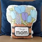 หมอนของขวัญแม่ Blue Tulip Wooden bucket