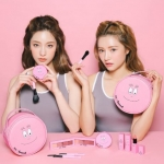 3CE x Barbapapa Pink Pouch (Limited Edition) กระเป๋าใส่เครื่องสำอางค์สีชมพูหวาน จากตัวการ์ตูนบาบ้าปาป้า คอลเลคชั่นล่าสุดจาก 3ce ใบใหญ่จุของได้เยอะ ขนาดทรงกลม 18x18x9 ซม. ,