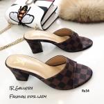 รองเท้าแฟชั่นเปิดส้น Style LV Damier