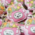 พวงกุญแจพร้อมส่ง ลาย Pink Tulip - Mom