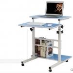 Pre-order โต๊ะทำงานปรับระดับ โต๊ะคอมพิวเตอร์ปรับระดับ โต๊ะพรีเซนต์งาน โต๊ะยืนทำงาน สีฟ้า