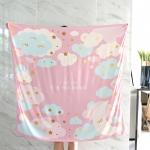 ผ้าพันคอ ลาย Moon - Pink พร้อมส่ง