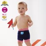 พร้อมส่ง Splash About Happy Nappy Navy/Red white strips