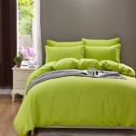 (Pre-order) ชุดผ้าปูที่นอน ปลอกหมอน ปลอกผ้าห่ม ผ้าคลุมเตียง ผ้าฝ้าย สีพื้น สีเขียว