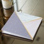 """อัลบั้ม 100 รูป (4x6"""") พร้อมส่ง ลาย Marble - Triangle"""