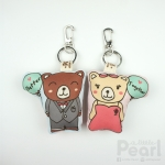 Couple Teddy พวงกุญแจหมีคู่ 2 ลายใน 1 ชิ้น