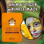 **พร้อมส่ง**SNP ANIMAL MASK Tiger Wrinkle Mask (1 แผ่น) แผ่นมาร์กหน้าลายสัตว์ เสือ สูตรหน้าใสลดริ้วรอย ลดรอยแผลเป็น รอยแห่งวัย ให้คงความอ่อนเยาว์ ลูกเล่นแนวใหม่ไม่ต้องเบื่อกับการมาส์กหน้าแบบเดิมๆ Selfie สนุกๆ ระหว่างมาส์ก สุดฮิตจากเกาหลี ,
