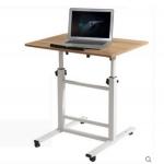 Pre-order โต๊ะทำงานปรับระดับ โต๊ะวางคอมพิวเตอร์ โต๊ะพรีเซนต์งาน บาร์ปรับระดับ สีไม้