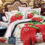 (Pre-order) ชุดผ้าปูที่นอน ปลอกหมอน ปลอกผ้าห่ม ผ้าคลุมเตียง ผ้าฝ้ายพิมพ์ 3D รูปผลไม้