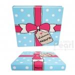 """อัลบั้ม 100 รูป (4x6"""") ลายกล่องของขวัญ - สั่งทำใส่ชื่อ"""