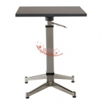 Pre-order โต๊ะทำงานปรับระดับ โต๊ะวางคอมพิวเตอร์ โต๊ะพรีเซนต์งาน บาร์ปรับระดับ สีดำ