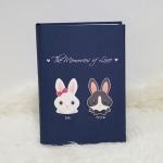 """อัลบั้ม 300 รูป (4x6"""") ลายกระต่ายคู่ - สั่งทำใส่ชื่อ"""