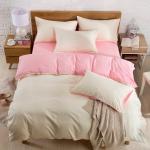 (Pre-order) ชุดผ้าปูที่นอน ปลอกหมอน ปลอกผ้าห่ม ผ้าคลุมเตียง ผ้าฝ้าย สีพื้น สีขาวน้ำนม