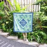 ผ้าพันคอ ลาย Tropical - Palm - สั่งทำใส่ชื่อ