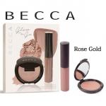 **พร้อมส่ง**Becca Glow on The Go Shimmering Skin Perfector Rose Gold Set เซ็ตเพื่อผิวโกลว์สวยแลดูมีมิติอย่างเป็นธรรมชาติที่มีทั้งไฮไลท์แบบตลับและแบบลิควิด มาพร้อมพิกเม้นท์แน่นติดทนนาน ,