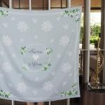 ผ้าพันคอ ลาย Jasmine - Hexagon - Grey สั่งทำใส่ชื่อ