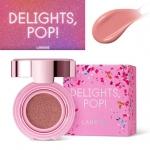 **พร้อมส่ง**Laneige Cushion Brusher Holiday Delights Pop Collection สี Rosy Pink Pop ครั้งแรกของบลัชคุชชั่นจากลาเนจ มอบพวงแก้มสุกปลั่งสดใสอย่างที่ไม่เคยมีมาก่อน! สีชมพูกุหลาบสวยสด มอบเม็ดสีสดชัด อย่างมีมิติ ให้พวงแก้มดูสุกปลั่งสดใสอย่างเป็นธรรมชาติ เติมคว