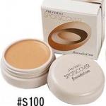 **พร้อมส่ง**Shiseido Spots Cover Foundation 20g. #S100 ผิวขาว คอนซีลเลอร์เนื้อครีม อันดับ1 จาก Cosme.net Japan มา 2ปีซ้อนสีนี้ออกเบจอ่อนๆ ใช้กับผิวขาว-ขาวเหลือง เนื้อเนียนมากๆ ปกปิดได้เนียนเรียบ แต่ไม่ทิ้งคราบหนา ช่วยกลบรอยสิว รอยแผลเป็น ,