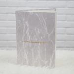 """อัลบั้ม 300 รูป (4x6"""") ลายหินอ่อนสีเทา 07 - สั่งทำใส่ชื่อ"""