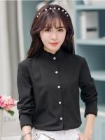 เสื้อทำงานสีดำ แขนยาว รหัสสินค้า 10-C05-ดำ