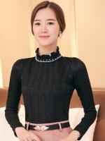 เสื้อทำงานผู้หญิงสีดำ แขนยาว รหัสสินค้า 13-T6172-ดำ