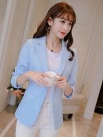 เสื้อสูททำงานผู้หญิงสีฟ้า รหัสสินค้า 4-008RX-ฟ้า