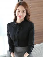 เสื้อทำงานผู้หญิงสีดำ แขนยาว รหัสสินค้า 13-1665-ดำ