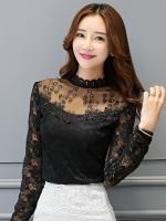 เสื้อทำงานผู้หญิงสีดำ แขนยาว รหัสสินค้า 13-N7108-ดำ