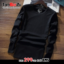 เสื้อยืดเเขนยาวสีดำ L