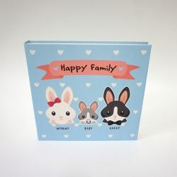 """อัลบั้ม 100 รูป (4x6"""") ลายกระต่าย - สั่งทำใส่ชื่อ"""