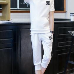 ชุดเซ็ท เสื้อ+กางเกง สีขาว M