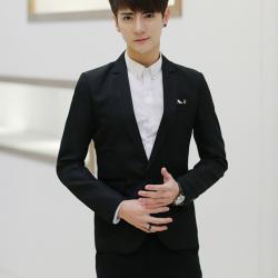 เสื้อสูทเกาหลี L สีดำ