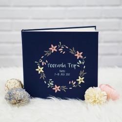 """อัลบั้ม 100 รูป (4x6"""") ลาย Floral Frame - สั่งทำใส่ชื่อ"""
