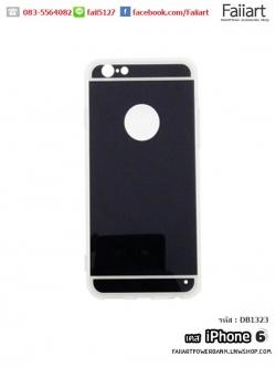 เคสiPhone6 เคสฝาหลัง โชว์โลโก้ สีดำ