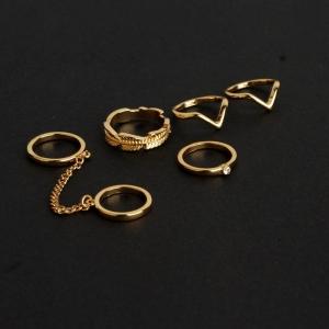 R-02.เซทแหวน 5 ชิ้น แฟชั่น