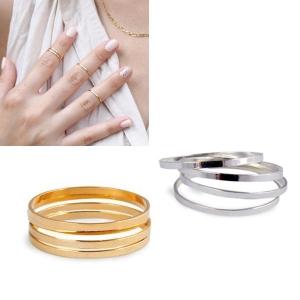 R-11.แหวนข้อนิ้วทอง Forever 6 ชิ้น