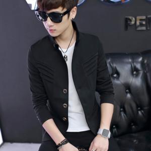 เสื้อสูทเกาหลี สีดำ