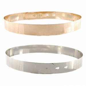 ส่งฟรี เข็มขัดโลหะเงิน/ทองเต็มวง 3 cm