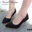 รองเท้าคัทชูส้นโลหะทรงหัวแหลม (สีดำ) thumbnail 2