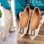 รองเท้าส้นแบนแต่งอะไหล่ Style Gucci (สีครีม) thumbnail 3