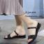รองเท้าแตะริสตัลสไตล์แฟชั่นเกาหลี (สีดำ) thumbnail 2