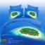 (Pre-order) ชุดผ้าปูที่นอน ปลอกหมอน ปลอกผ้าห่ม ผ้าคลุมเตียง ผ้าฝ้ายพิมพ์ 3D รูปเกา สีน้ำทะเล thumbnail 1
