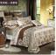 (Pre-order) ชุดผ้าปูที่นอน ปลอกหมอน ปลอกผ้าห่ม ผ้าคลุมเตียง ผ้าลินินเนื้อละเอียดทอลายเพรสลี่ สีคาเมล thumbnail 1
